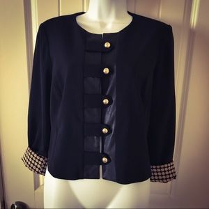 Chico's Cropped Jacket Size 0 Equivalent Size 4/6